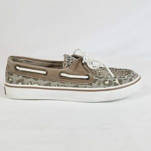 Sperry Top Sider Animal Print Boat Shoes 6.5M